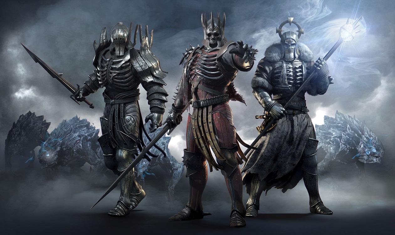 این است گروه مخوف وایلد هانت. سمت چپی Imlerith. سمت راستی Caranthir و در وسط رئیس این گروه شیطانی، Eredin هستند